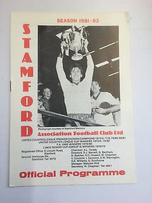 1981/82 Stamford v Peterborough United 24/8/81