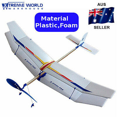 3PCS/Set Glider Rubber Band Elastic Powered Flying Plane Airplane Model Kids Toy