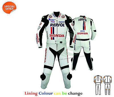 New Bike racing track leather suit two piece can be customize to one piece suit