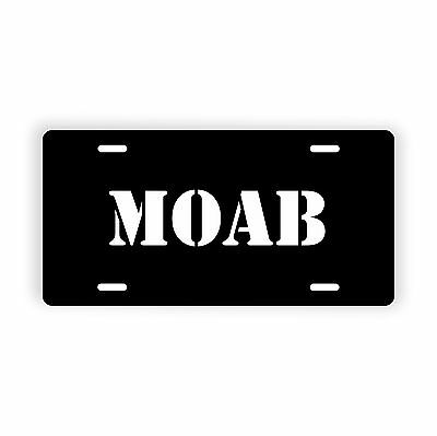 "MOAB Novelty License Plate 6"" x 12"" Aluminum Plate"