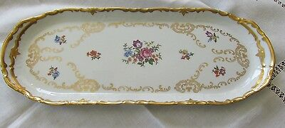 Antique German Fine Porcelain Rosenthal Cookie Serving Or Vanity Tray Floral