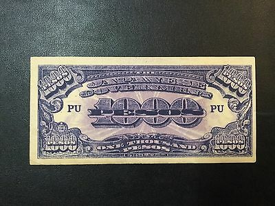 1945 Wwii Japan-Philippines Paper Money - 1,000 Pesos Banknote !