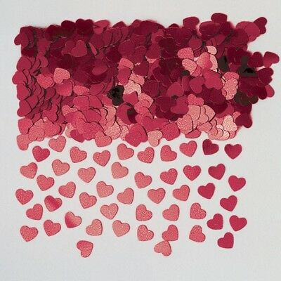 Sparkle Hearts Burgundy Metallic Table Confetti 14g Party Sprinkles/Decorations