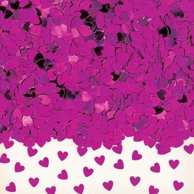 Sparkle Hearts Hot Pink Metallic Table Confetti 14g Party Sprinkles/Decorations