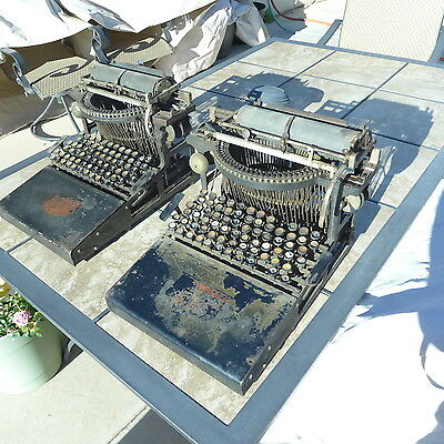 Two Rare  Caligraph 2 Antique Typewriters For Repair Or Parts 8 Pitch & 10 Pitch