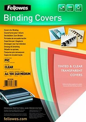 Fellowes PVC Binding Cover 240 Micron Transparent