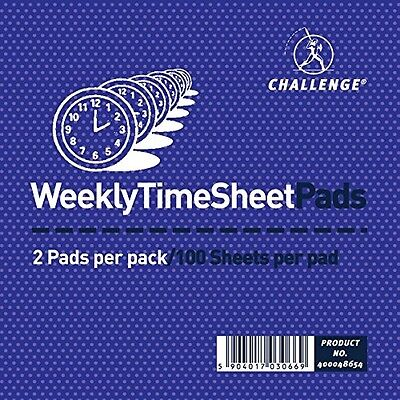 Challenge Weekly Time Sheet Pad (Pack Of 2)