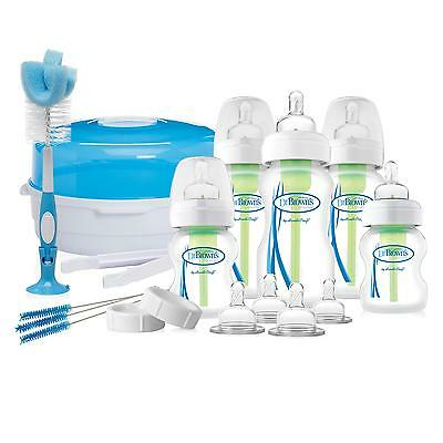 Dr Brown's Options Baby Newborn Gift Set (Includes feeding bottles & Steriliser)