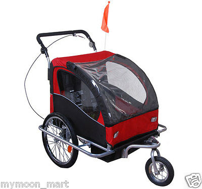 Skiiddii 's Suspension Bicycle Trailer Bike Trailer Child Stroller Pram Jogger