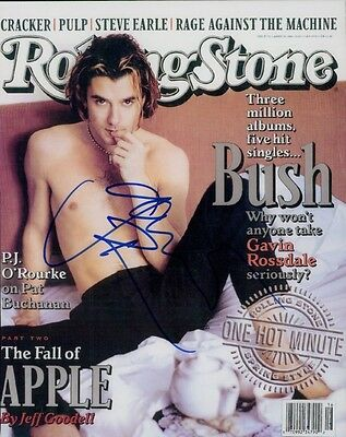 Gavin Rossdale SIGNED photo - Musician/Actor - GM96