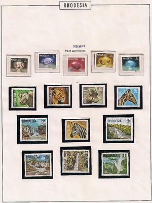 Zimbabwe stamp Rhodesia Definitive set MNH 1978 Mi 206-220 WS171944