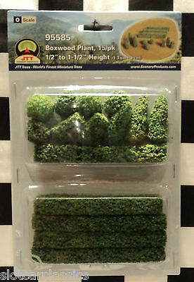 "Jtt Scenery 95585 Boxwood Plants 15/pk O-Scale 1/2"" To 1 1/2"" Tall  Jtt95585"