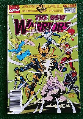 Marvel THE NEW WARRIORS Annual Kings of Pain 1991 #1
