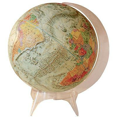 Lovable Vintage Vibrantly Colored Globe on Acrylic Stand