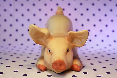 """Playful PIG Figurine Butt Rear in the Air Hog Sow Farm Animal Collectible 4"""""""