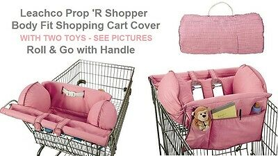 Leachco Prop 'R Shopper Body Fit Shopping Cart Cover - Pink Pin Dots