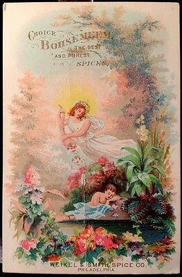 Bohsemeem Spices Victorian Trade Card 1880s Weikel & Smith Philadelphia #2