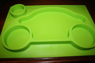 Cool4baby Silicone Suction Placemat Baby Toddler Feeding Mat Green Car