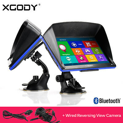 XGODY 7'' 886 GPS Navigation SAT NAV Navigator + Reverse Rear View Backup Camera