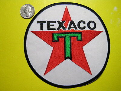 Texaco Uniform Cloth Patch 6 Inch Circle Look And Buy!*