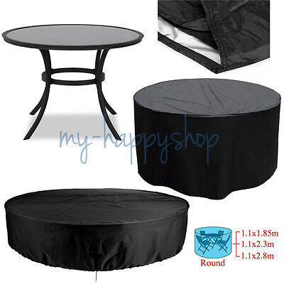 Durable Waterproof Outdoor Furniture Cover Round Patio Dining Coffee Table Large