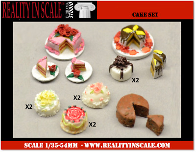 Reality In Scale 1:35 Cake Set - 14 pcs Diorama Accessory #35266