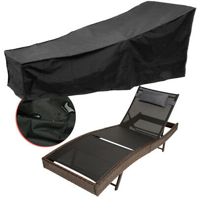 Large Heavy Duty Sunbed Lounger Cover UV Treated Garden Patio Waterproof Shelter