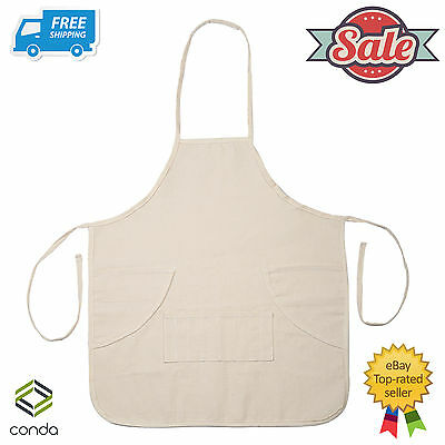 CONDA Kid Garden Cotton Canvas Artist Apron Mini 3 Pockets Size: 78x47 CM