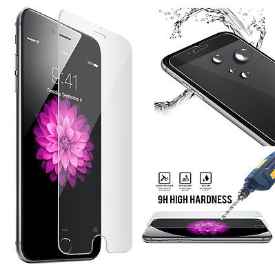 Hot 9H Scratch Resist Tempered Glass Screen Protector iPhone 8 7 6S Plus 4 5 SE