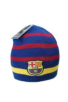 24b1f1f73d2a6c FC Barcelona Official SOCCER One Size Knit Beanie Hat (2 sides can use)