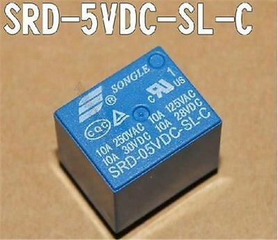 10PCS Mini 5V Dc Songle Power Relay SRD-5VDC-SL-C Pcb Type pn