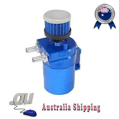 Baffled Universal Aluminum Oil Catch Tank Can Reservoir Tank BLUE top