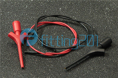 New Mini high Test Clip Grabber SMD IC Hook Probe connection red + black