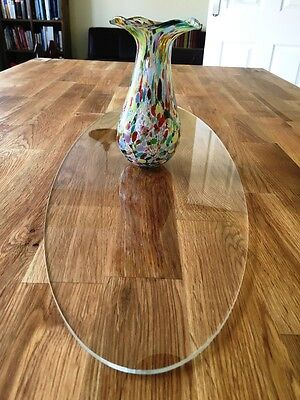 Oval Table Runner / Protector in Clear Gloss Finish Acrylic 3mm