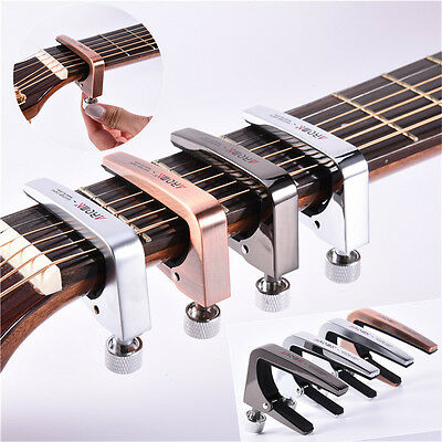 Aroma Quick Change Tune Clamp Key Trigger Capo For Acoustic Electric Guitar BASS
