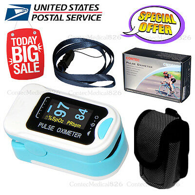 US Promoted FDA Fingertip Blood Oxygen Meter SPO2 Pulse Heart Rate Monitor,Pouch