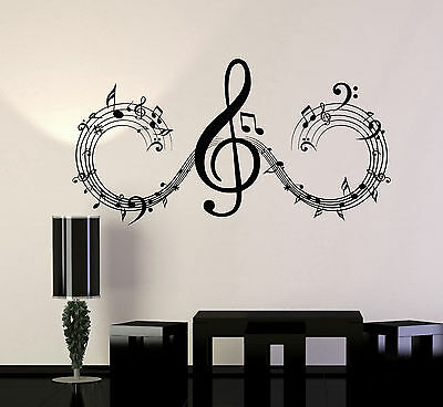 Vinyl Wall Decal Musical Notes Music Art Home Room Decor Stickers (ig4698)