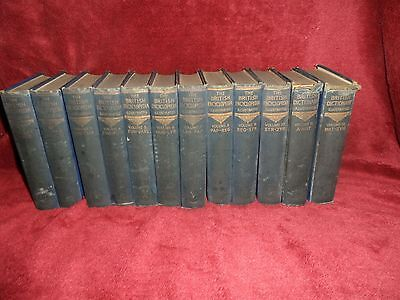 full set 1933,The British Encyclopedia Illustrated 10 + 2 Volumes 1st Edition