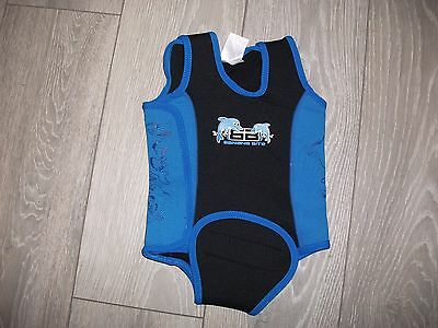 BNWOT New TWF Banana Bite Baby Wraps Swim Suit Wetsuit Age 12-18 Months