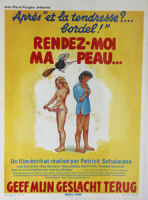 *Vintage* French Belgian 80s Risque Film Posters - Belga Film Adult Films Blue