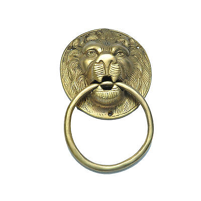 Large Solid Brass Metal VICTORIAN GEORGIAN TRADITIONAL Lion Head Door Knocker