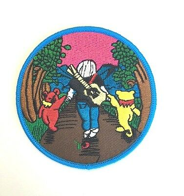 Grateful Dead Jerry and the Bears Embroidered Patch Iron on or Sew on