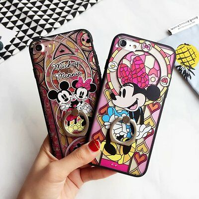 Cartoon Finger Ring Holder Protective Hard Case Cover F iPhone 6/6 plus7/7plus