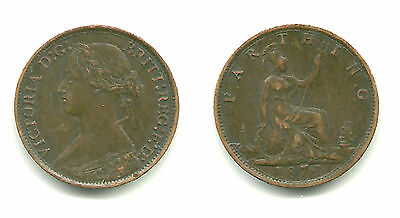 GREAT BRITAIN - Nice 1 Farthing, 1873 - Queen Victoria, KM #747.2