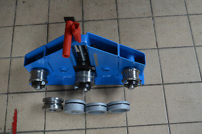 Roller bender flat bar. square profile, round bar, pipe bender, ring roller,