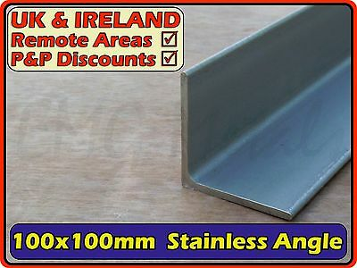 Stainless Steel Angle (L section,iron,bracket) | 100x100mm 6mm | 304 316 Marine