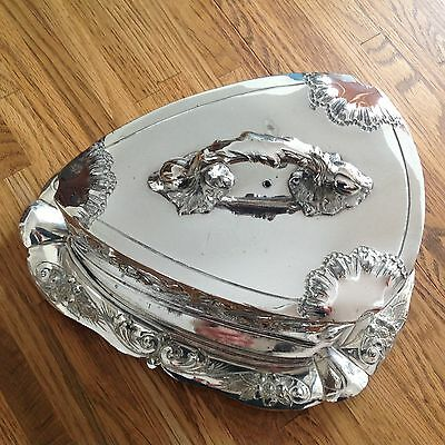 silverplate  cheese dish