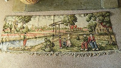 Large Antique Vintage Tapestry Wall Hanging