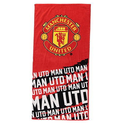 Manchester United  FC Official Licensed TEAM Velour TOWEL Beach RED ADULT A321