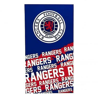 Rangers Official Football Club TEAM Velour TOWEL Beach BATH  100% Cotton  A321